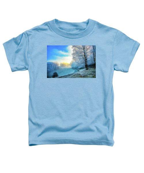 Rime Ice Sunrise Toddler T-Shirt