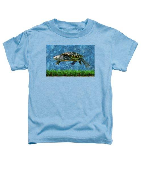 Rodney The Diamondback Terrapin Turtle Toddler T-Shirt