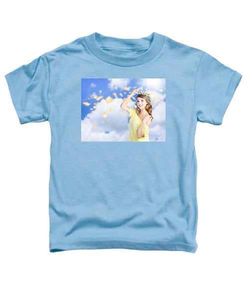 Romantic Woman Dreaming Of A Sky Filled Romance Toddler T-Shirt