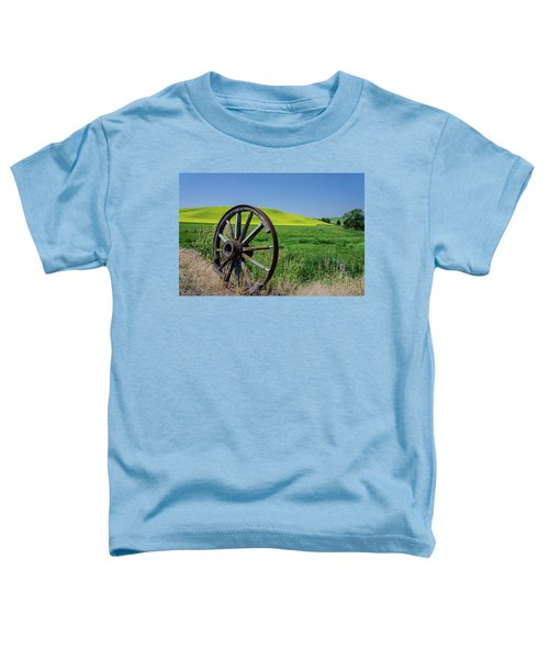Rustic Wagon Wheel In The Palouse Toddler T-Shirt