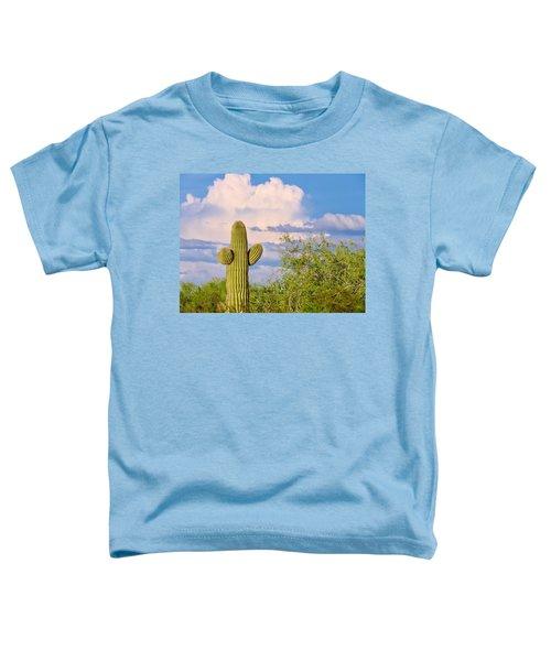 Saguaro And Mesquite In Monsoon Season Toddler T-Shirt