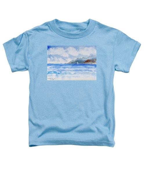 Sailing Into Moorea Toddler T-Shirt