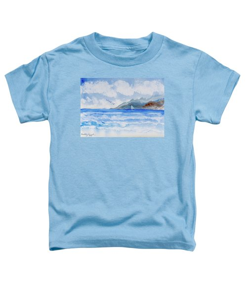 Sailing Into Moorea Toddler T-Shirt