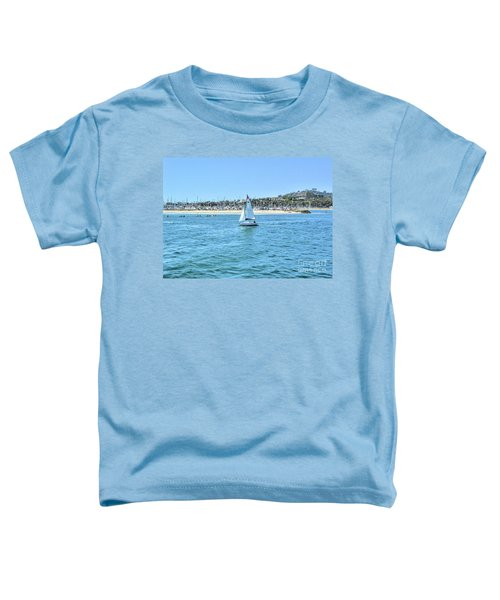 Sailing Out Of The Harbor Toddler T-Shirt