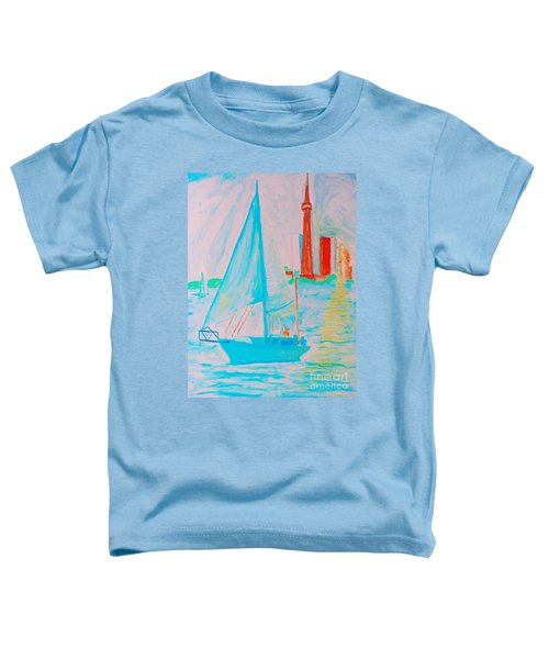 Sailing Toronto, Canada Toddler T-Shirt
