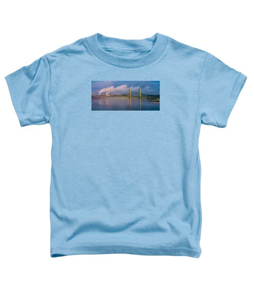 Sarah Long Bridge At Dawn Toddler T-Shirt