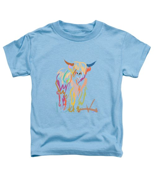 Toddler T-Shirt featuring the painting Scottish Highland Cow by Go Van Kampen