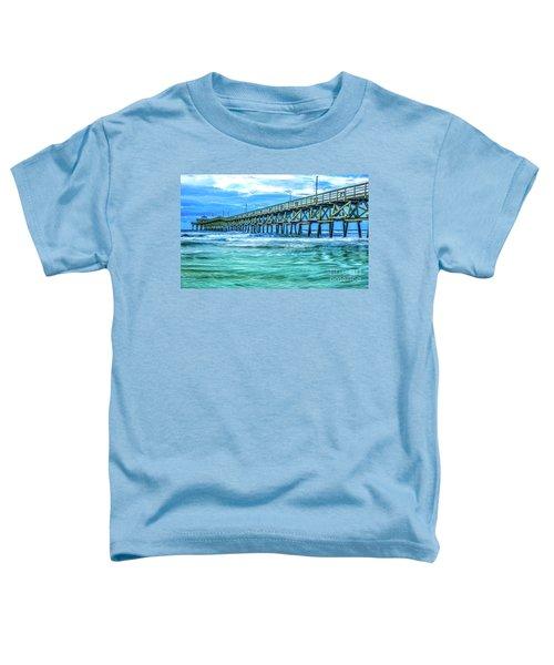 Sea Blue Cherry Grove Pier Toddler T-Shirt