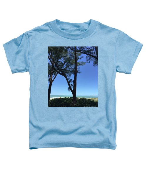 Seagrapes And Pines Toddler T-Shirt by Megan Cohen