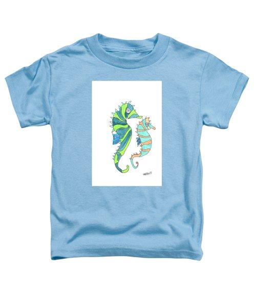 Seahorse Couple - Coastal Watercolor Toddler T-Shirt