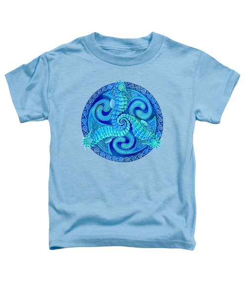 Seahorse Triskele Toddler T-Shirt by Rebecca Wang