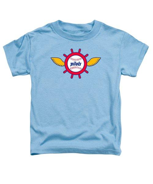 Seattle Pilots Retro Logo Toddler T-Shirt by Spencer McKain
