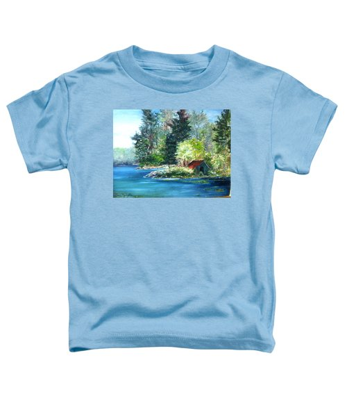 Secluded Boathouse-millsite Lake  Toddler T-Shirt