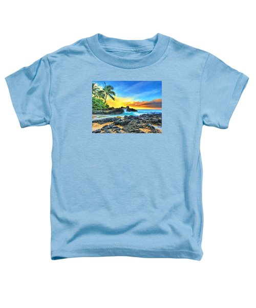 Secret Cove Sunrise Maui Toddler T-Shirt