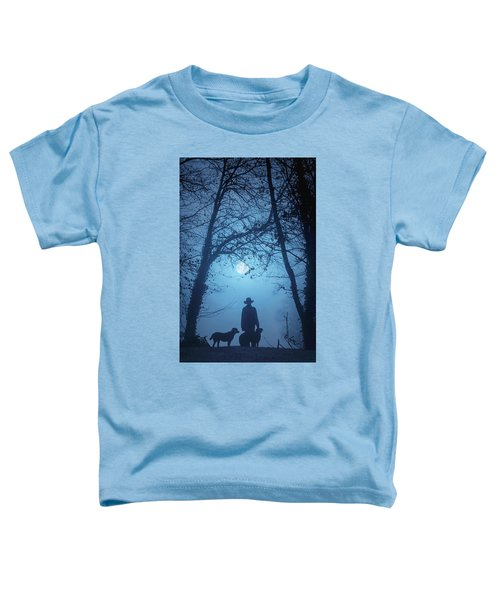 Shepherd And His Dogs Along The River Tamar Toddler T-Shirt