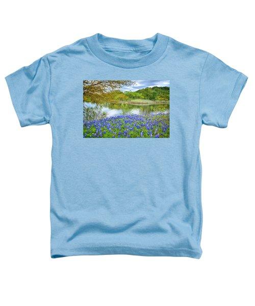Shoreline Bluebonnets At Lake Travis Toddler T-Shirt