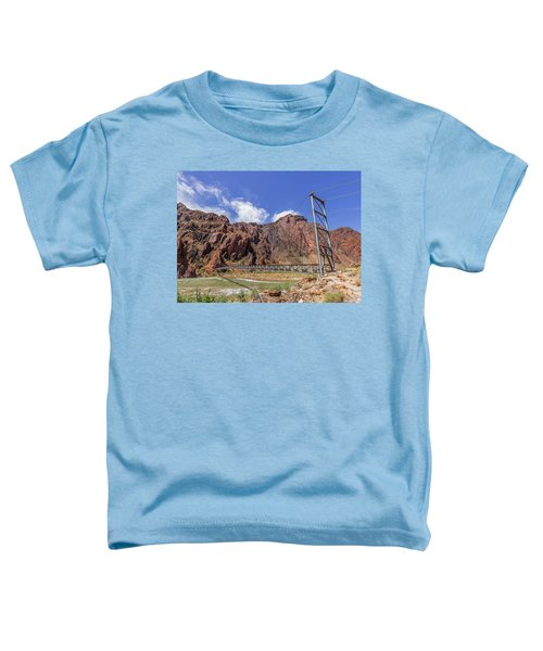 Silver Bridge Over Colorado River - At The Bright Angel Trail Toddler T-Shirt