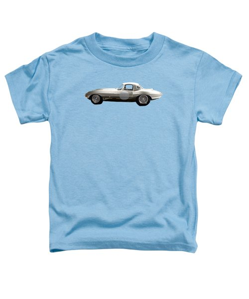 Silver Sports Car Art Toddler T-Shirt