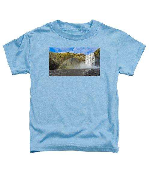Skogafoss Rainbow Toddler T-Shirt