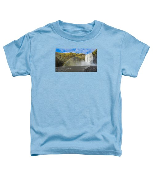 Skogafoss Rainbow Toddler T-Shirt