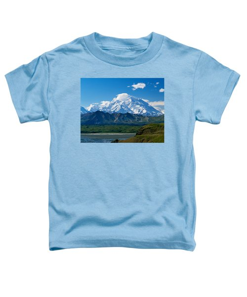 Snow-covered Mount Mckinley, Blue Sky Toddler T-Shirt