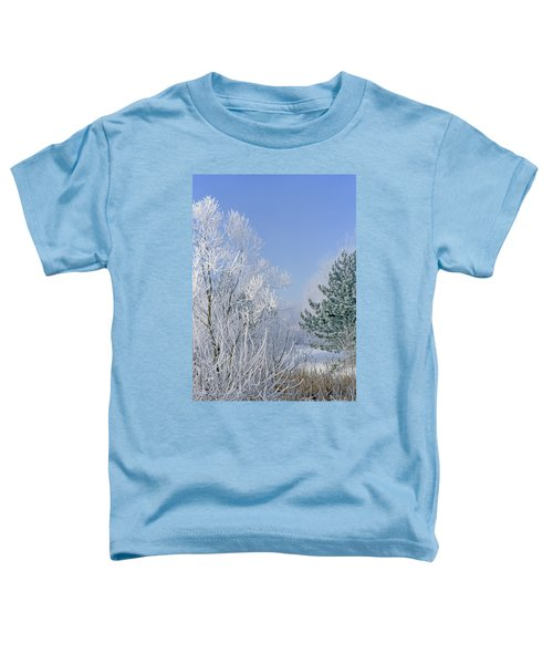 2a357 Snow Covered Trees At Alum Creek State Park Toddler T-Shirt