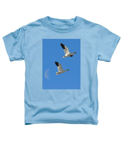 Snow Geese Moon Toddler T-Shirt