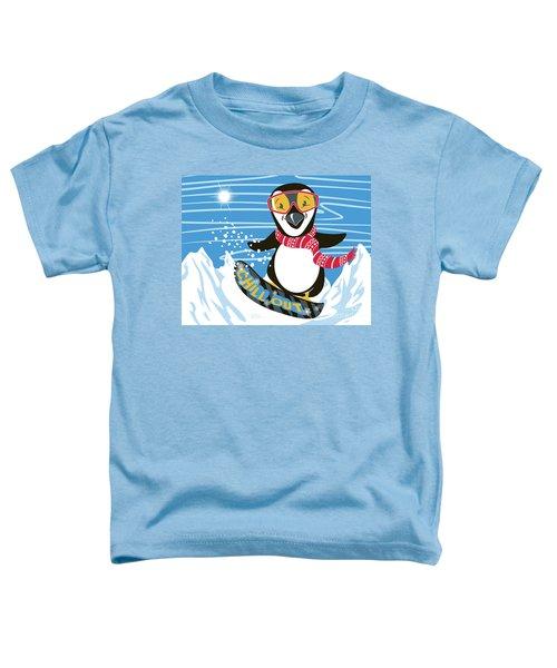 Snowboarding Penguin Toddler T-Shirt