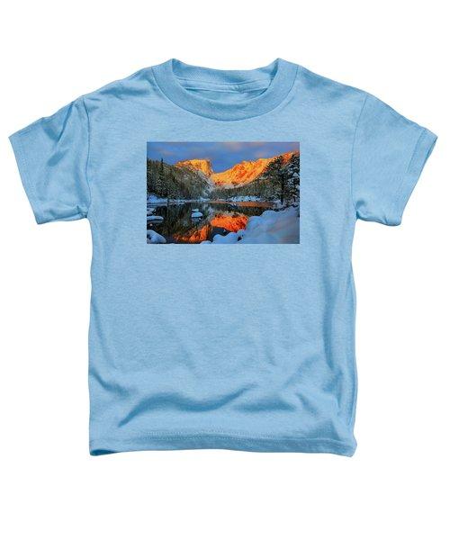 Snowy Dawn At Dream Lake Toddler T-Shirt