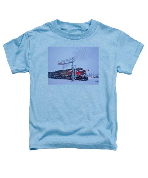 Snowy Train Crossing  Toddler T-Shirt