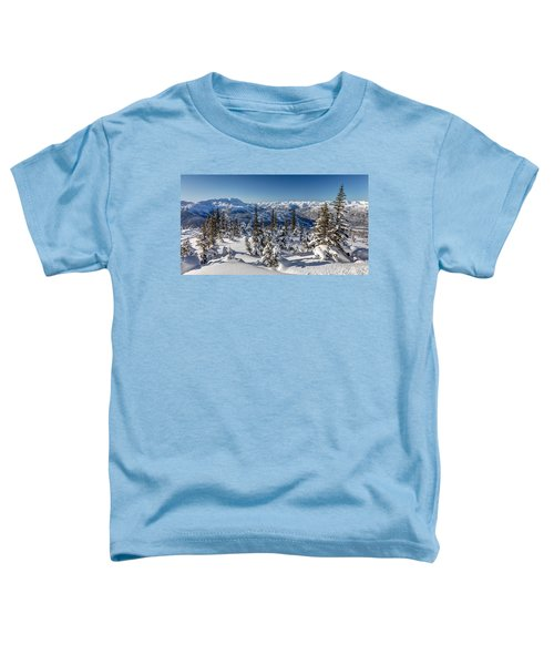 Snowy Whistler Mountain  Toddler T-Shirt