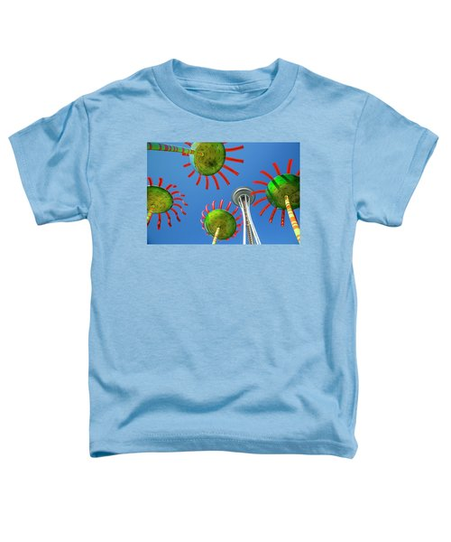 Toddler T-Shirt featuring the photograph Sonic Bloom In Seattle Center by Adam Romanowicz