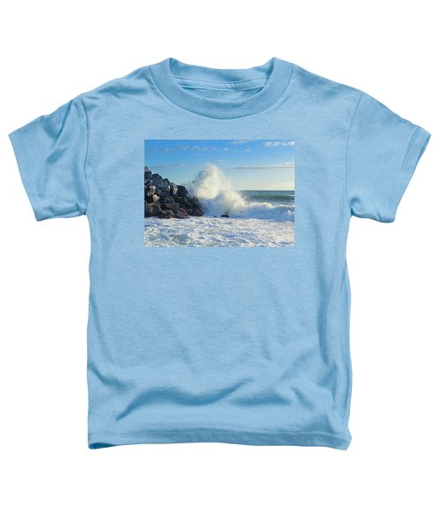 Toddler T-Shirt featuring the photograph Splish Splash by Alison Frank