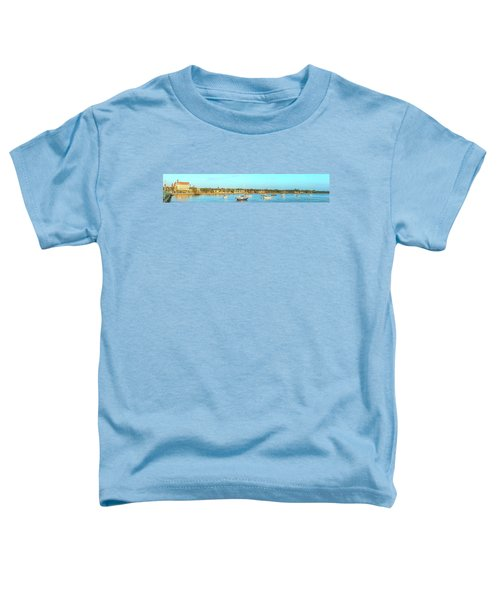 Toddler T-Shirt featuring the photograph St Augustine Panorama by Sebastian Musial