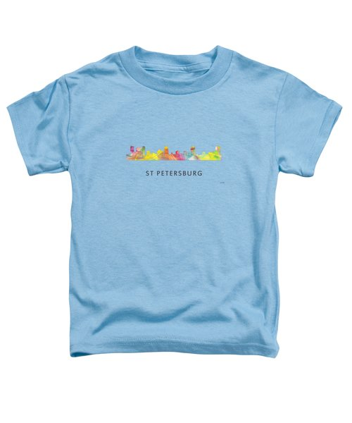 St Petersburg Florida Skyline Toddler T-Shirt