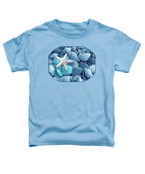 Starfish On The Beach In Blue Toddler T-Shirt