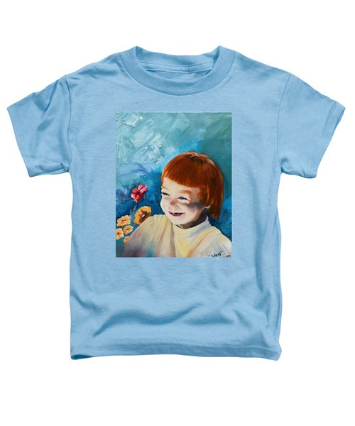 Stefi- My Trip To Holland - Red Headed Angel Toddler T-Shirt