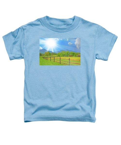 Sunburst Over Peaks Of Otter, Virginia Toddler T-Shirt