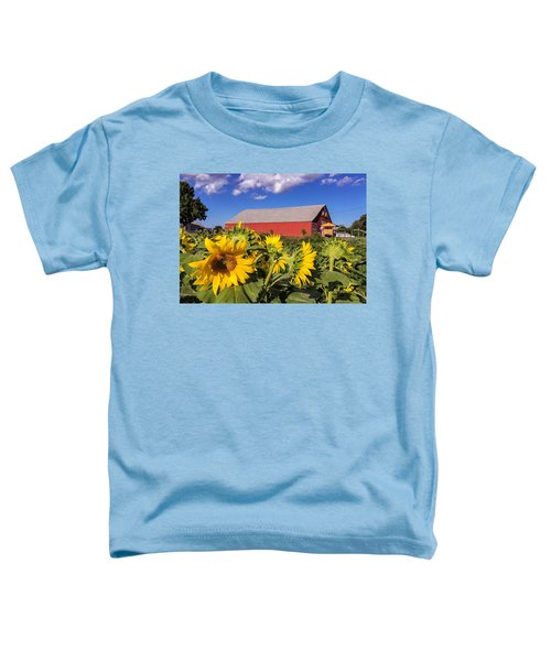 Sunflower Red Barn Toddler T-Shirt