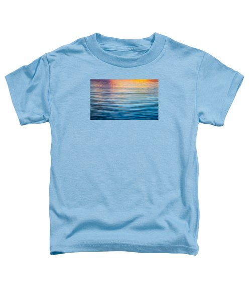 Sunrise Abstract On Calm Waters Toddler T-Shirt