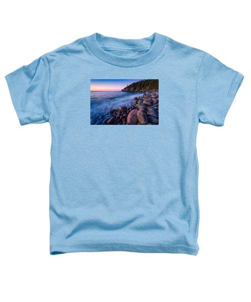 Sunrise At Boulder Beach Acadia Np Toddler T-Shirt