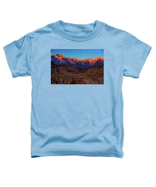 Sunrise Illuminating The Sierra Toddler T-Shirt