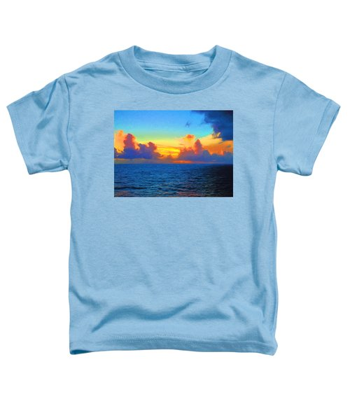 Toddler T-Shirt featuring the photograph Sunset At Sea by Greg Norrell