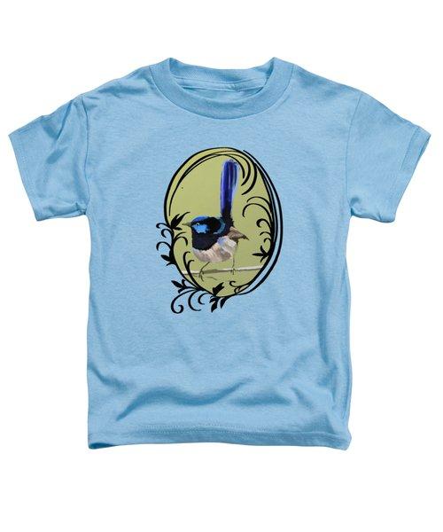 Superb Blue Wren Australian Bird Toddler T-Shirt