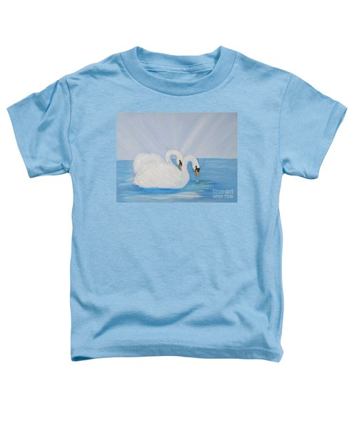 Swans On Open Water Toddler T-Shirt