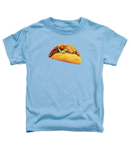 Taco Pattern Toddler T-Shirt