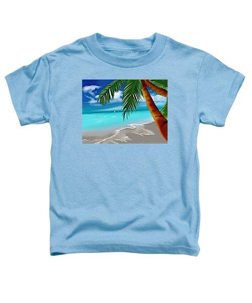 Toddler T-Shirt featuring the digital art Takemeaway Beach by Gerry Morgan