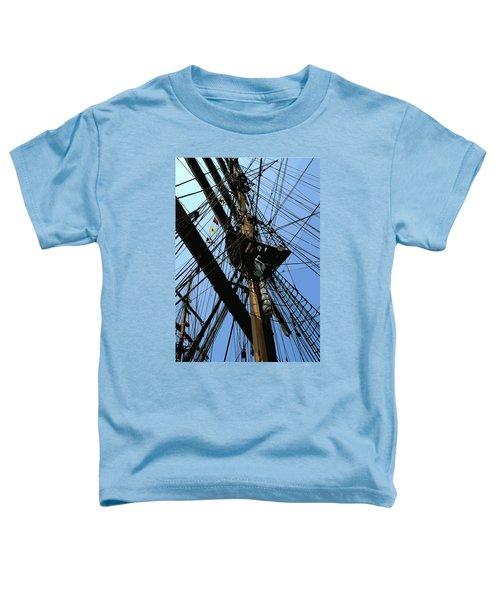 Tall Ship Design By John Foster Dyess Toddler T-Shirt
