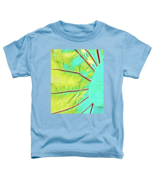 Taro Leaf In Turquoise - The Other Side Toddler T-Shirt