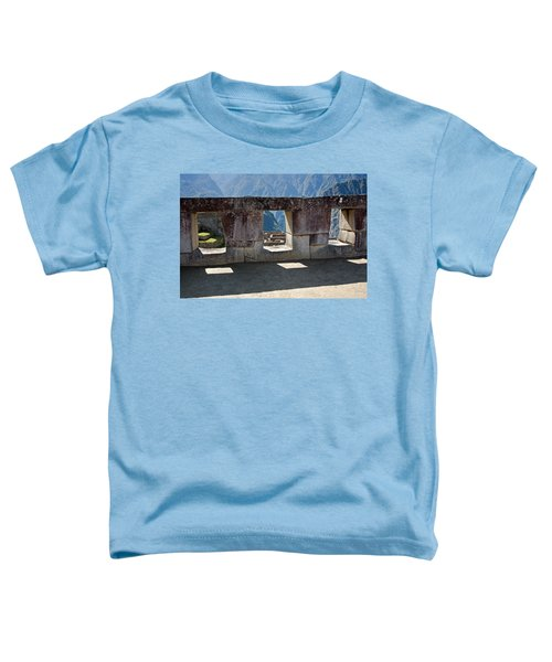 Temple Of The 3 Windows In Machu Picchu Toddler T-Shirt